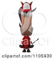 Clipart 3d Polo Horse Pouting Royalty Free CGI Illustration by Julos