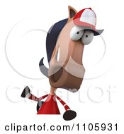 Clipart 3d Polo Horse With A Sign 1 Royalty Free CGI Illustration by Julos