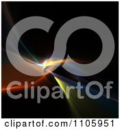 Clipart Colorful Fractal Lights On Black Royalty Free Illustration