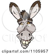 Clipart Happy Donkey Face Royalty Free Vector Illustration by Dennis Holmes Designs
