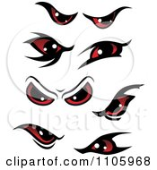 Clipart Evil Red Eyes Royalty Free Vector Illustration by Vector Tradition SM