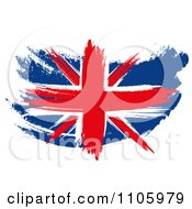 Clipart Painted Union Jack Flag Royalty Free Illustration by MacX #COLLC1105979-0098