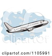 Clipart Jumbo Jet Commercial Airliner Plane Ascending Royalty Free Vector Illustration