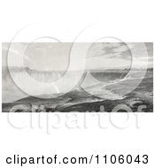 The Top Of The Niagara Falls Royalty Free Historical Stock Illustration
