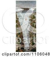 Jean Francois Gravelet Blondin On The Tightrope At Niagara Royalty Free Historical Stock Illustration