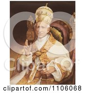 Portrait Of Pope Leo Xiii Sitting In A Chair Royalty Free Historical Stock Illustration