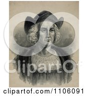 Portrait Of Christopher Columbus Wearing A Hat Royalty Free Historical Stock Illustration