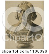 Bust Statue Of Christopher Columbus Royalty Free Historical Stock Illustration