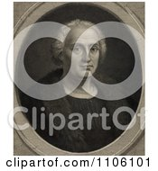 Portrait Of Christopher Columbus Wearing A Fur Trimmed Coat And Facing Front Royalty Free Historical Stock Illustration by JVPD