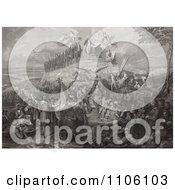 Christopher Columbus Pilgrims Battles And Presidents Royalty Free Historical Stock Illustration by JVPD
