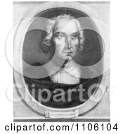 Christophorus Columbus Black And White Version Royalty Free Historical Stock Illustration