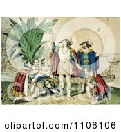 The Landing Of Columbus October 11th 1492 Royalty Free Historical Stock Illustration by JVPD