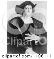 Portrait Of Christopher Columbus By Sebastiano Del Piombo Royalty Free Historical Stock Illustration