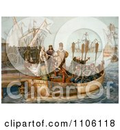 The First Voyage Of Christopher Columbus Royalty Free Historical Stock Illustration