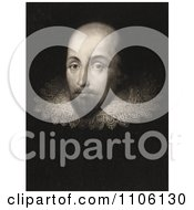 William Shakespeare Wearing A Lace Collar Royalty Free Historical Stock Illustration by JVPD
