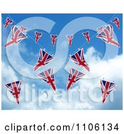 Clipart 3d Union Jack Bunting Banner Flags Against The Sky 4 Royalty Free CGI Illustration