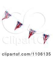 Clipart 3d Union Jack Bunting Banner Flags 4 Royalty Free CGI Illustration