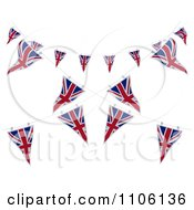 Clipart 3d Union Jack Bunting Banner Flags 5 Royalty Free CGI Illustration