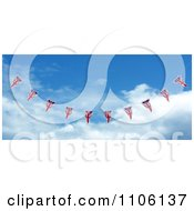 Clipart 3d Union Jack Bunting Banner Flags Against The Sky 3 Royalty Free CGI Illustration
