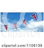 Clipart 3d Union Jack Bunting Banner Flags Against The Sky 2 Royalty Free CGI Illustration