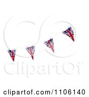 Clipart 3d Union Jack Bunting Banner Flags 2 Royalty Free CGI Illustration
