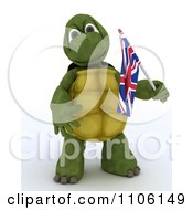 3d Union Jack Jubilee British Tortoise With A Small Flag