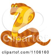 Clipart Orange Striped Cobra Snake Royalty Free Vector Illustration