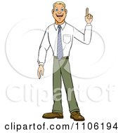 Clipart Young Business Man With An Idea Or An Aha Moment Royalty Free Vector Illustration by Cartoon Solutions