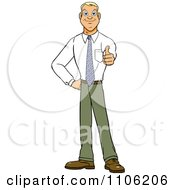 Clipart Happy Young Business Man Holding A Thumb Up Royalty Free Vector Illustration by Cartoon Solutions