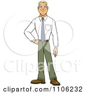 Clipart Proud Professional Young Business Man Posing Royalty Free Vector Illustration by Cartoon Solutions