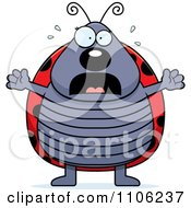 Clipart Scared Ladybug Panicking Royalty Free Vector Illustration by Cory Thoman