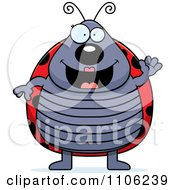 Clipart Happy Ladybug Waving Royalty Free Vector Illustration