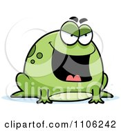 Clipart Chubby Evil Mean Frog Royalty Free Vector Illustration by Cory Thoman