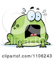 Clipart Chubby Frog Panicking Royalty Free Vector Illustration