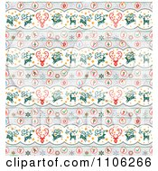 Clipart Seamless Background Pattern Of Christmas Reindeer Royalty Free Vector Illustration by Cherie Reve