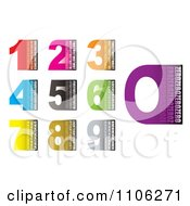 Clipart Colorful Blocky Numbers With Text Royalty Free Vector Illustration by michaeltravers
