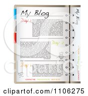 Clipart Blog Page With Organizer Tabs Royalty Free Vector Illustration