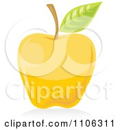 Clipart Yellow Apple Icon Royalty Free Vector Illustration