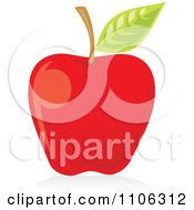Clipart Red Apple Icon Royalty Free Vector Illustration by Any Vector #COLLC1106312-0165