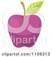 Clipart Purple Apple Icon Royalty Free Vector Illustration