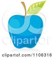 Clipart Blue Apple Icon Royalty Free Vector Illustration by Any Vector