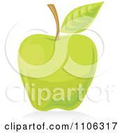 Clipart Green Apple Icon Royalty Free Vector Illustration