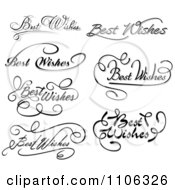 Clipart Black And White Best Wishes Greetings Royalty Free Vector Illustration