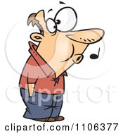 Clipart Man Whistling While He Waits Royalty Free Vector Illustration