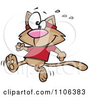 Clipart Jogger Cat Royalty Free Vector Illustration by toonaday