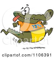 Clipart Jogging Alligator Royalty Free Vector Illustration by toonaday