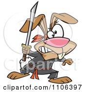 Ninja Rabbit With A Sword
