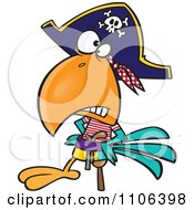 Goofy Pirate Parrot With A Peg Leg