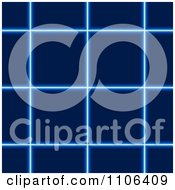 Clipart Blue Glowing Square Grid Background Royalty Free Vector Illustration