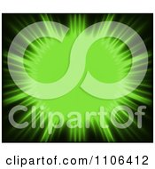 Clipart Lime Green Sun Burst Royalty Free Vector Illustration